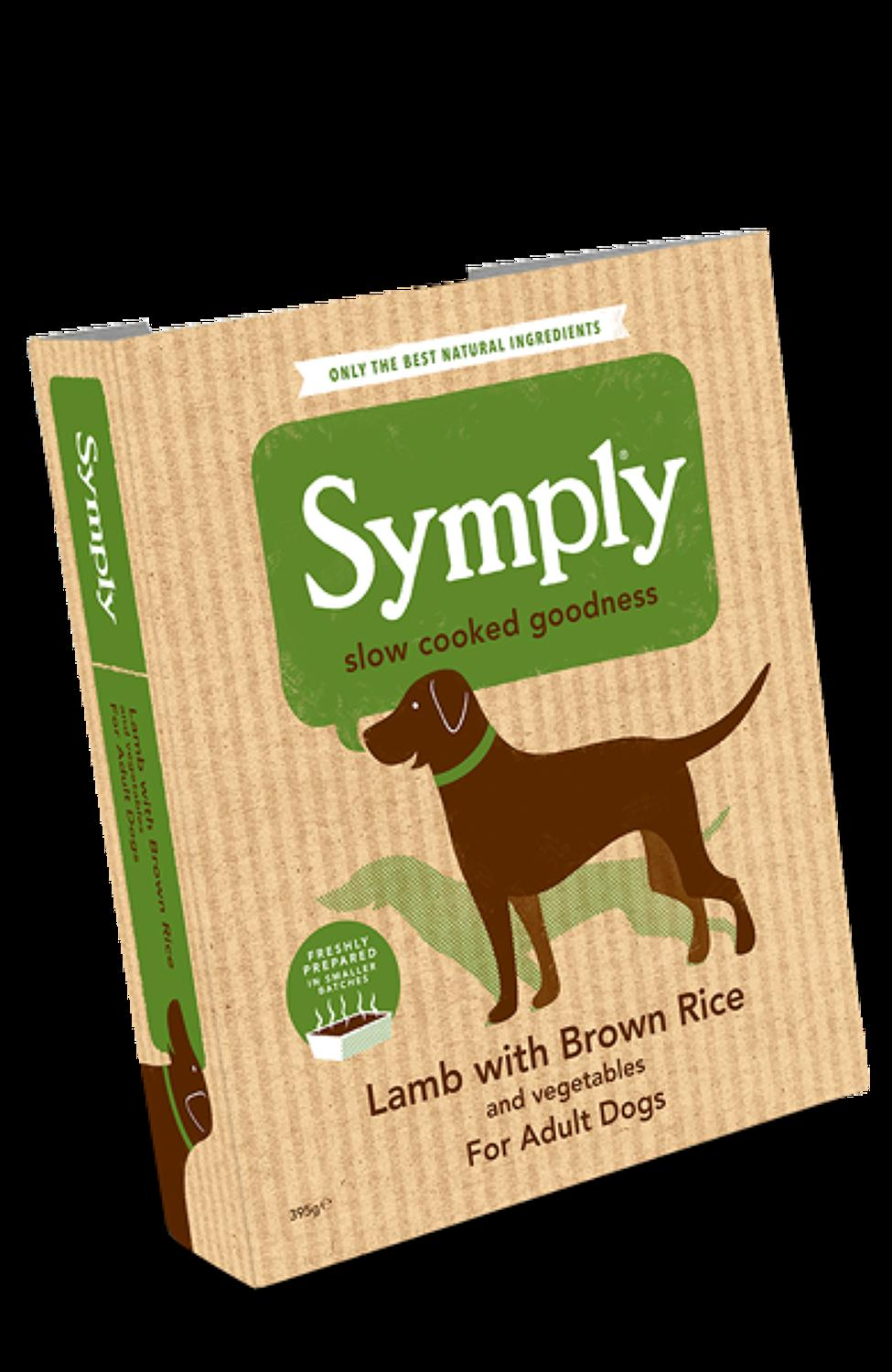 Symply Lamb & Rice For Adult Dogs 395g