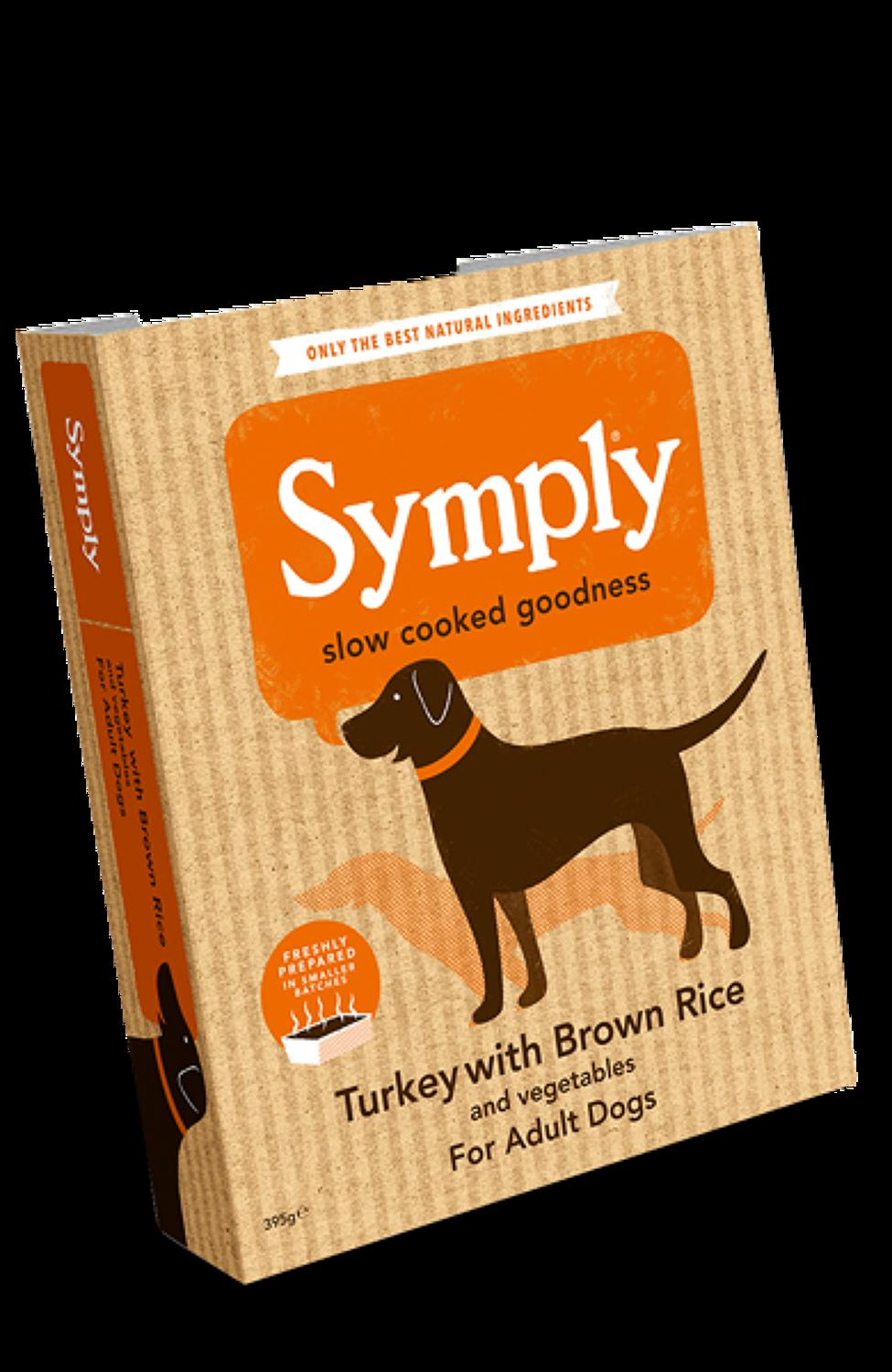 Symply Turkey & Rice For Adult Dogs 395g