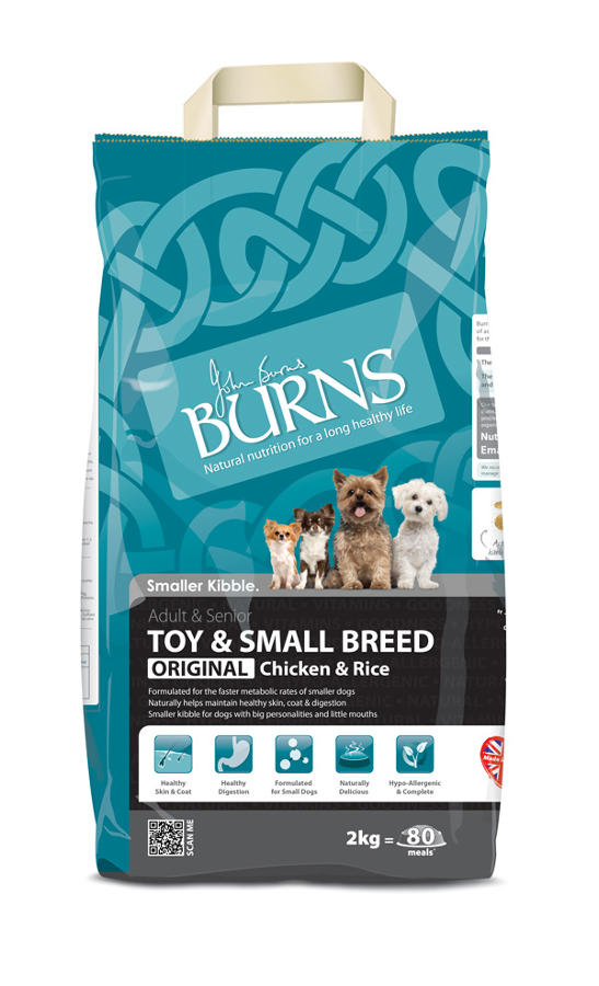 Burns Toy & Small Breed Chicken & Rice 2kg
