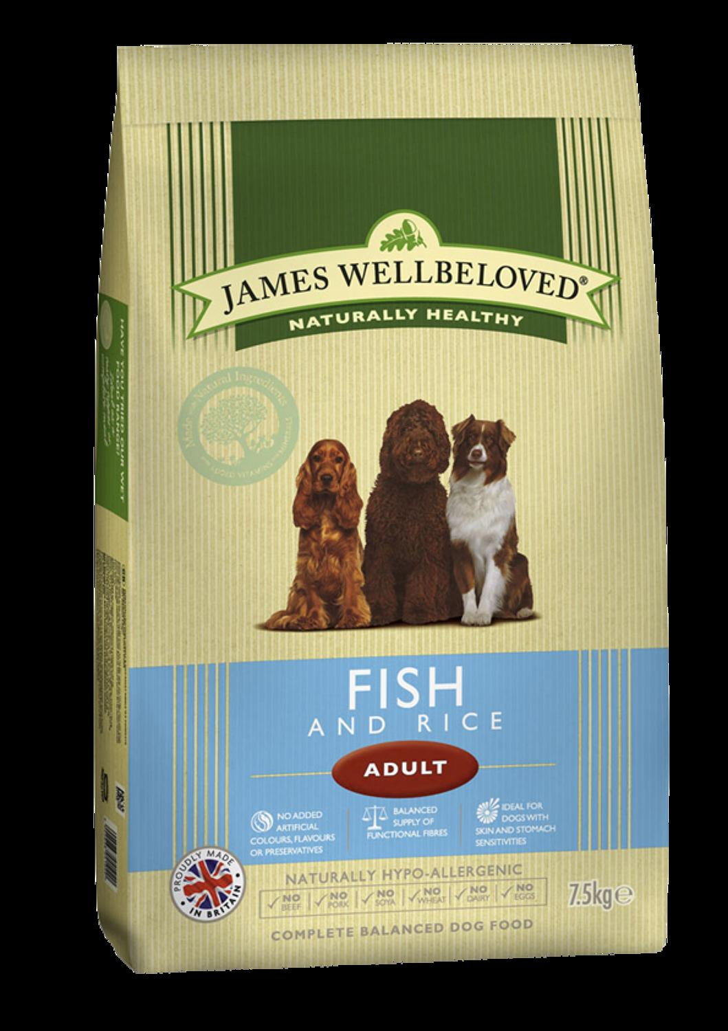James Wellbeloved Adult Fish & Rice 7.5kg