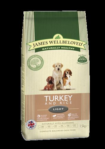 James Wellbeloved Light Turkey & Rice 1.5kg
