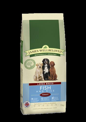 James Wellbeloved Large Breed Adult Fish 15kg