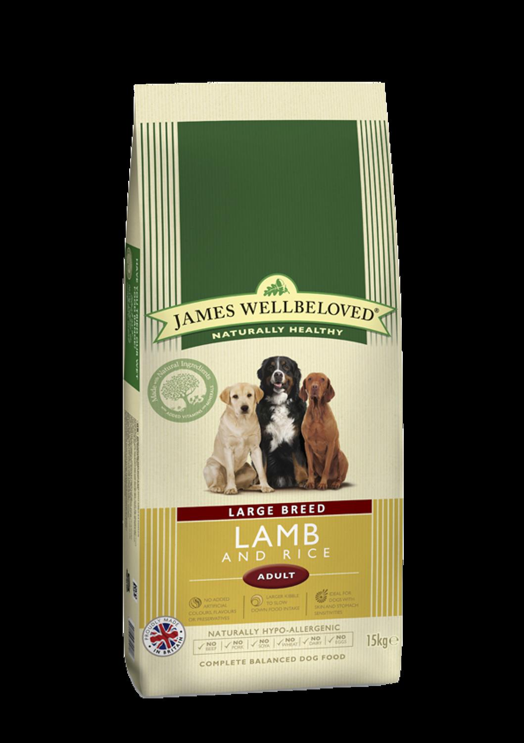 James Wellbeloved Large Breed Adult Lamb 15kg
