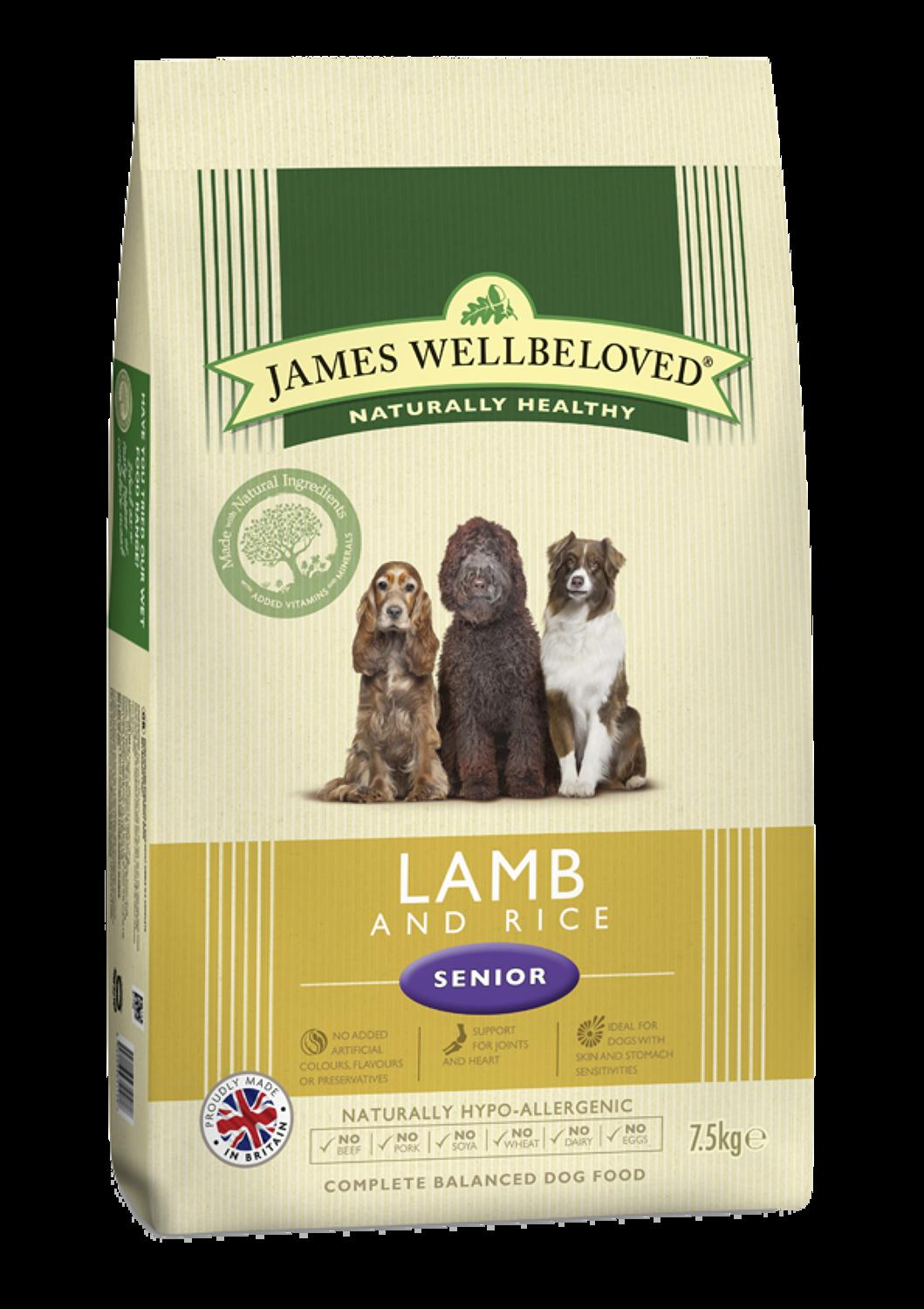 James Wellbeloved Senior Lamb & Rice 15kg