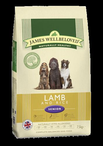 James Wellbeloved Senior Lamb & Rice 7.5kg