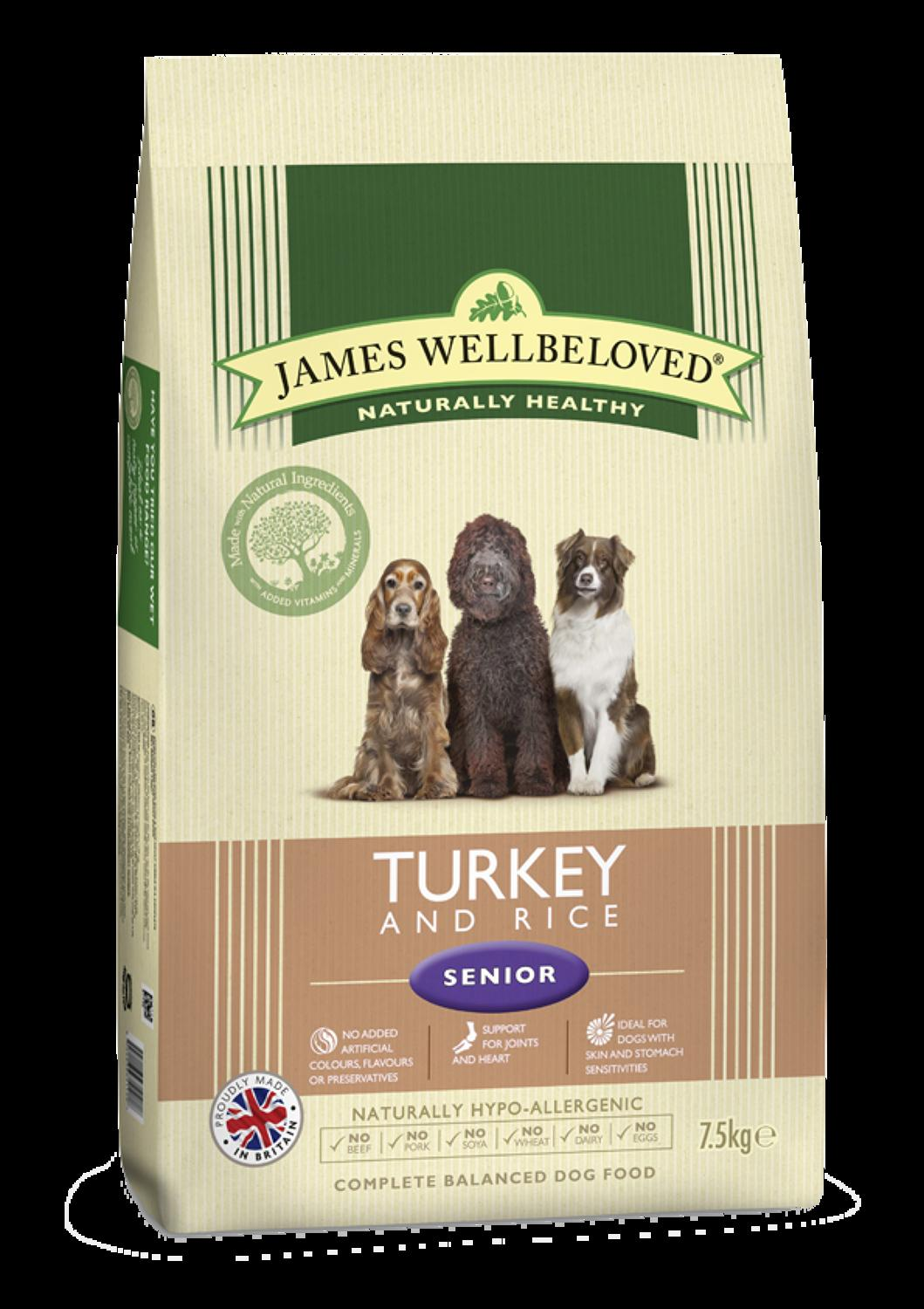 James Wellbeloved Senior Turkey & Rice 7.5kg