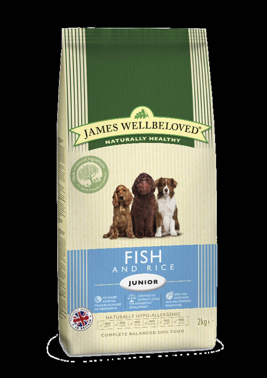 James Wellbeloved Junior Fish & Rice 2kg