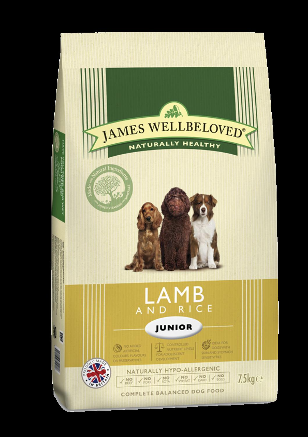 James Wellbeloved Junior Lamb & Rice 2kg