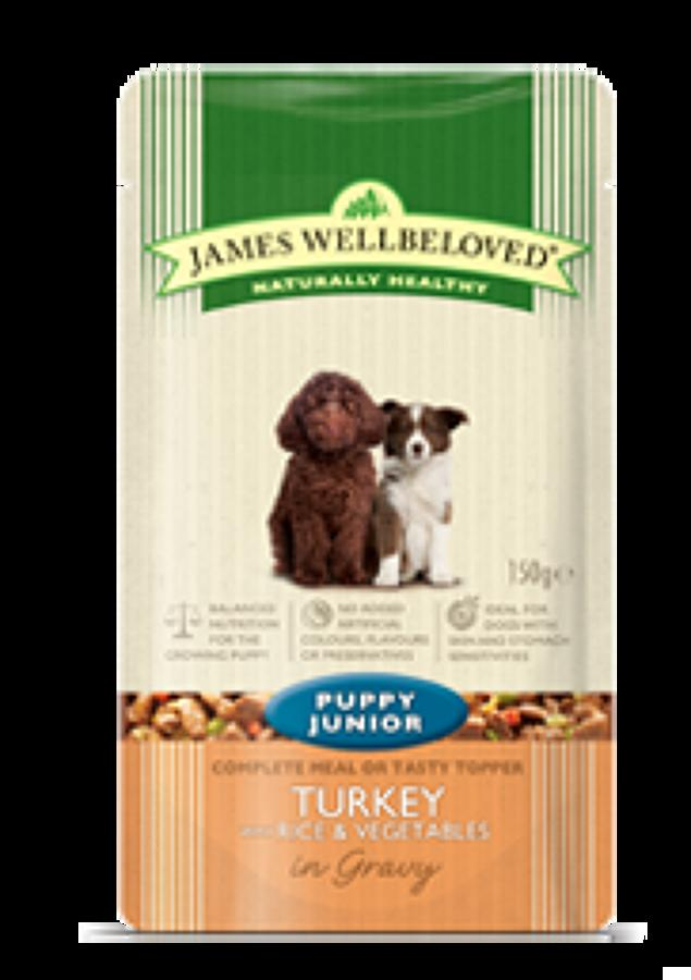 James Wellbeloved Puppy/ Junior Turkey 10x150