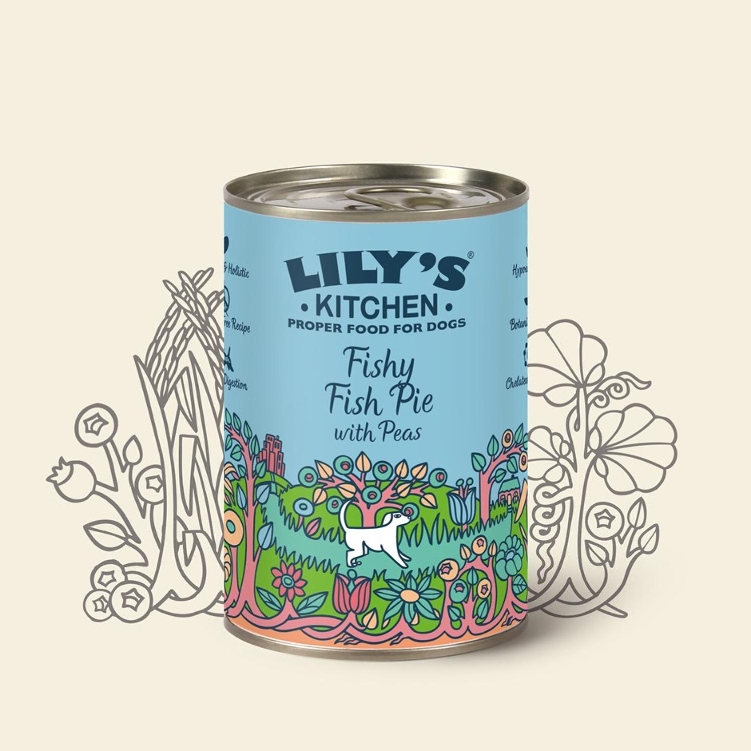 Lily's Kitchen Dog Fishy Pie with Peas 400g