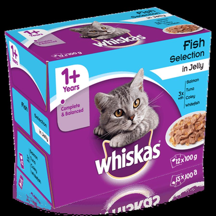 Whiskas 1+ Fish in Jelly 12x100g