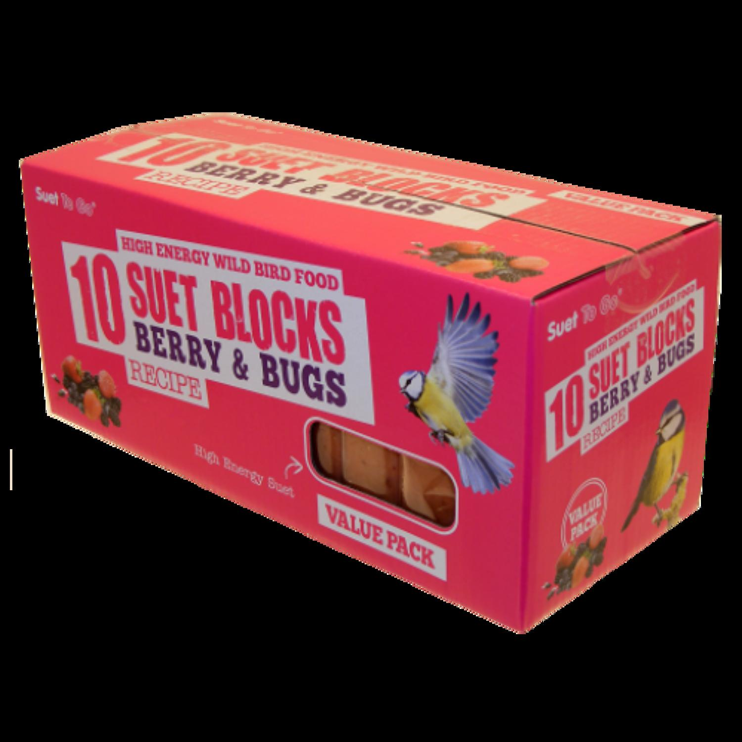SuetToGo Berry&Bugs Suet Blocks 10Pk