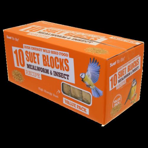 SuetToGo Mealworms&Insect Suet Blocks 10Pk