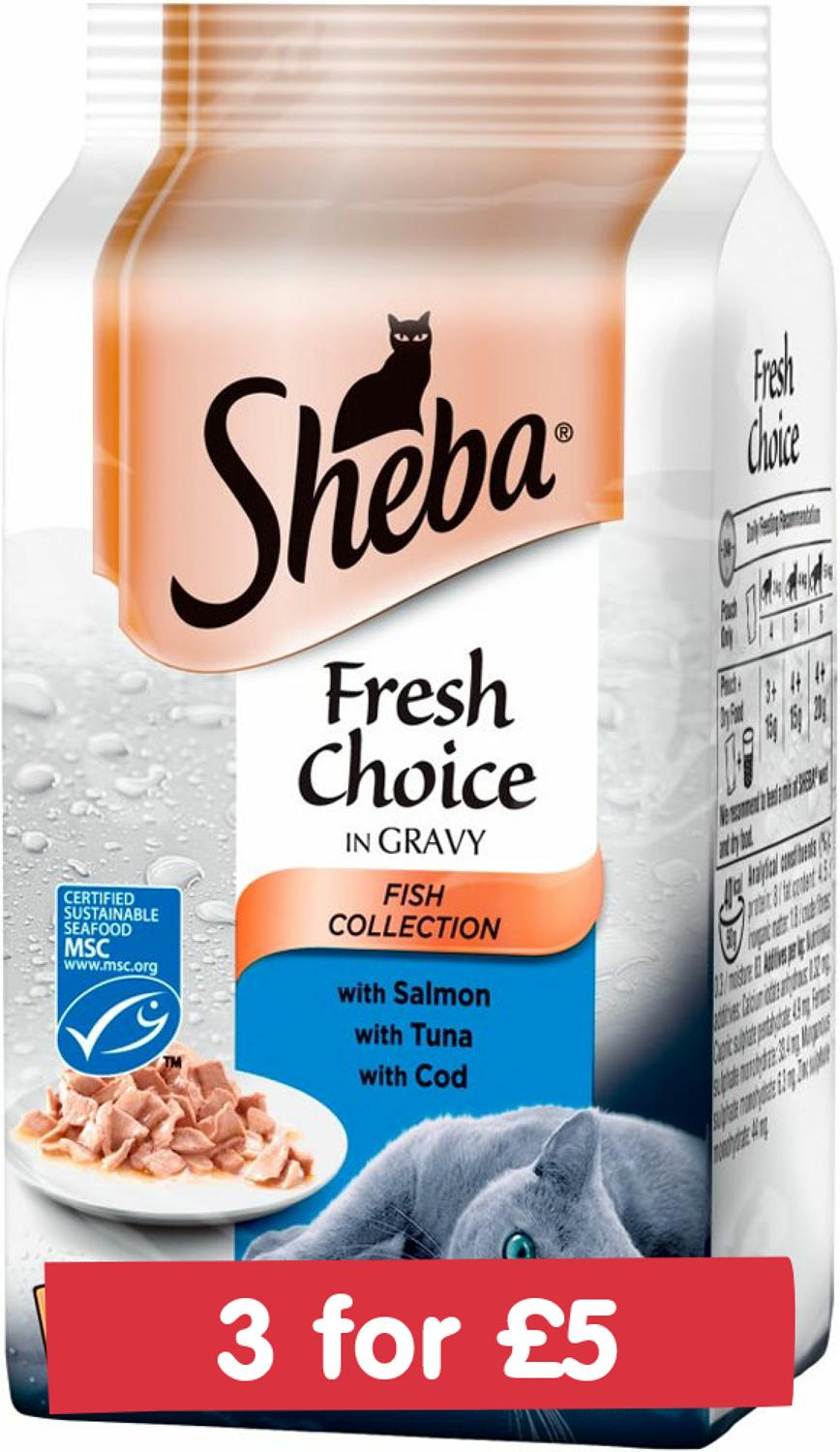 Sheba Fresh Choice Fish In Gravy 6x50g