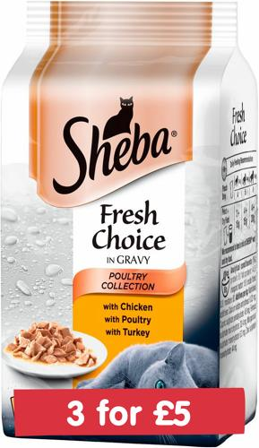 Sheba Fresh Choice Poultry In Gravy 6x50g