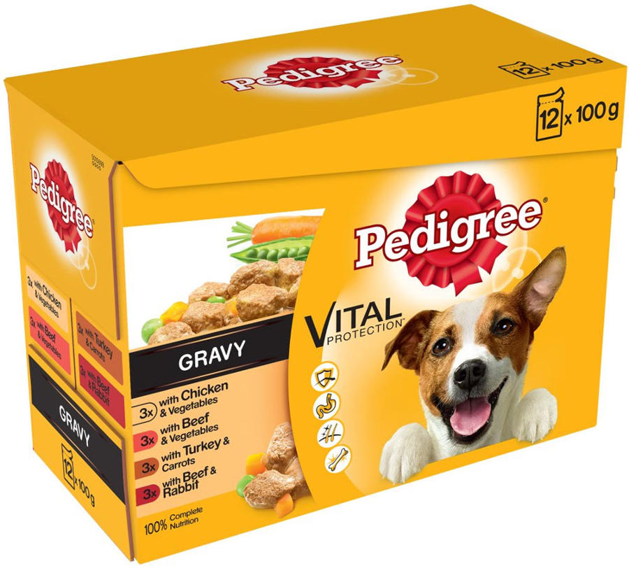 Pedigree Pouch Real Meals in Gravy 12x100g