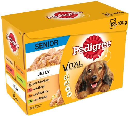 Pedigree Pouch Senior in Jelly 12x100g