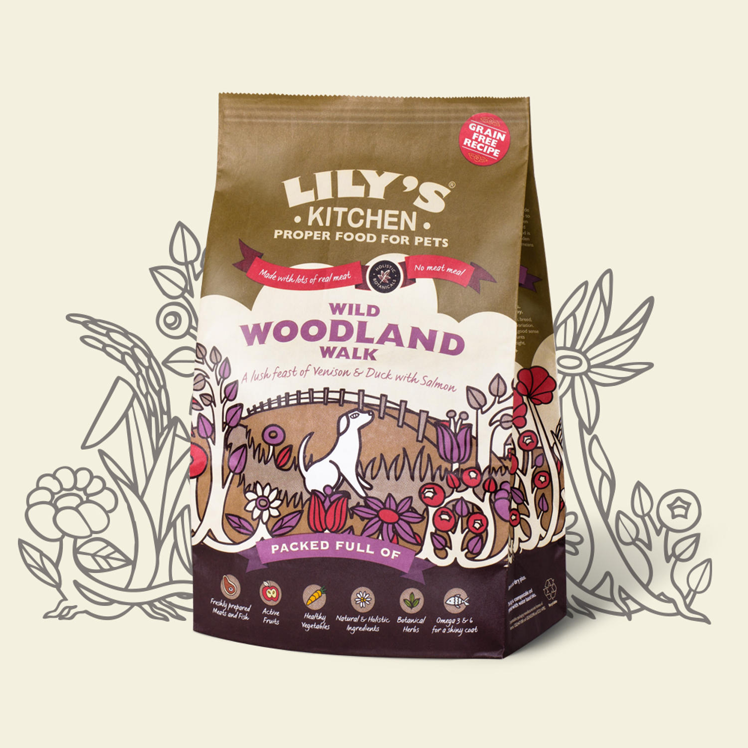 Lily's Kitchen Dog Wild Woodland Walk 1kg