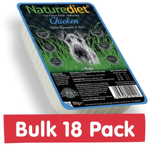 NatureDiet Chicken, Veg & Rice 18x390g