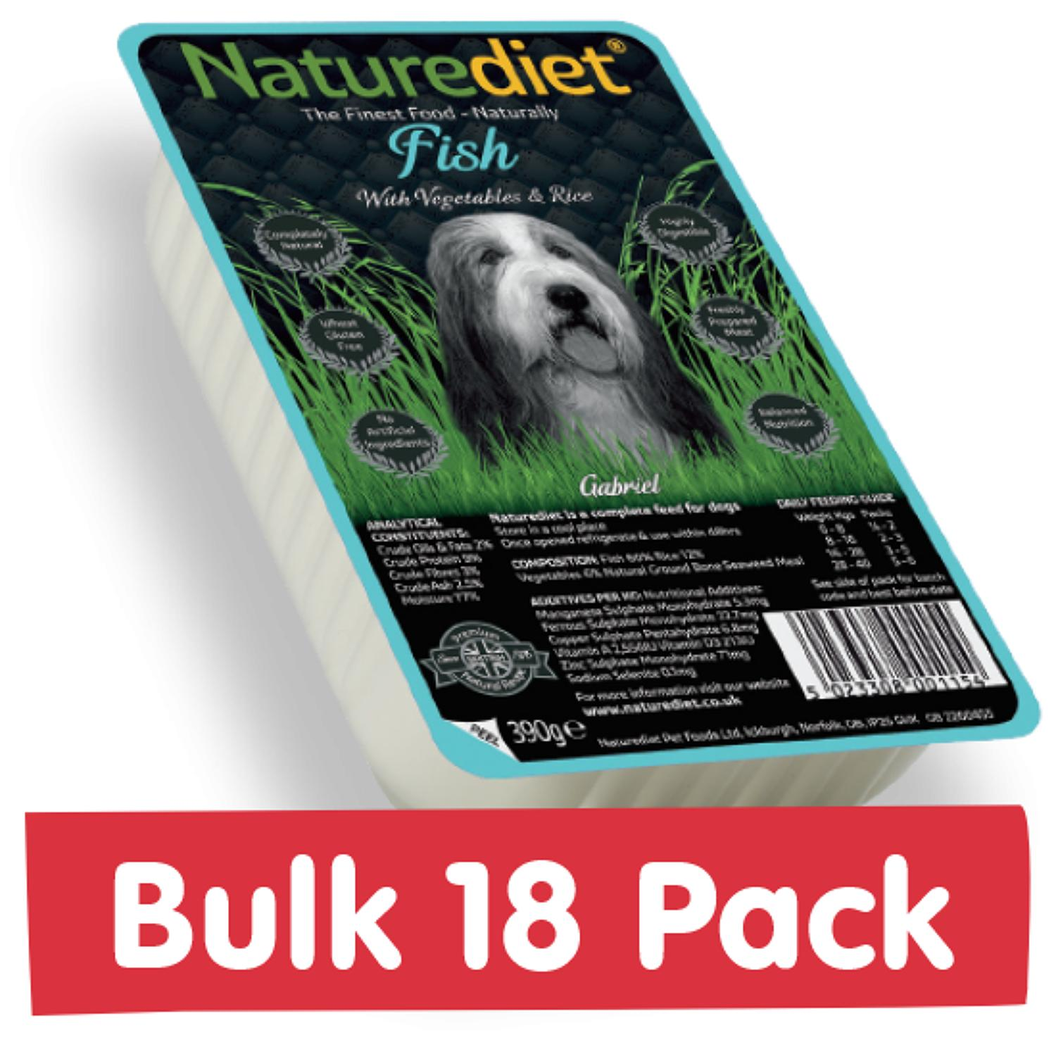 NatureDiet Fish, Veg & Rice 18x390g