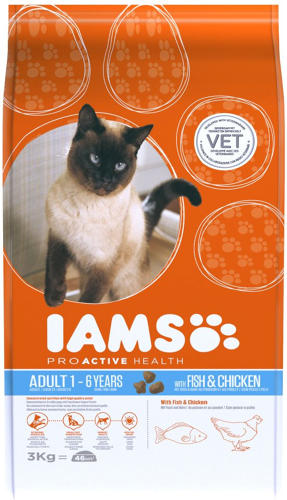 IAMS Cat Rich In Fish & Chicken 3kg