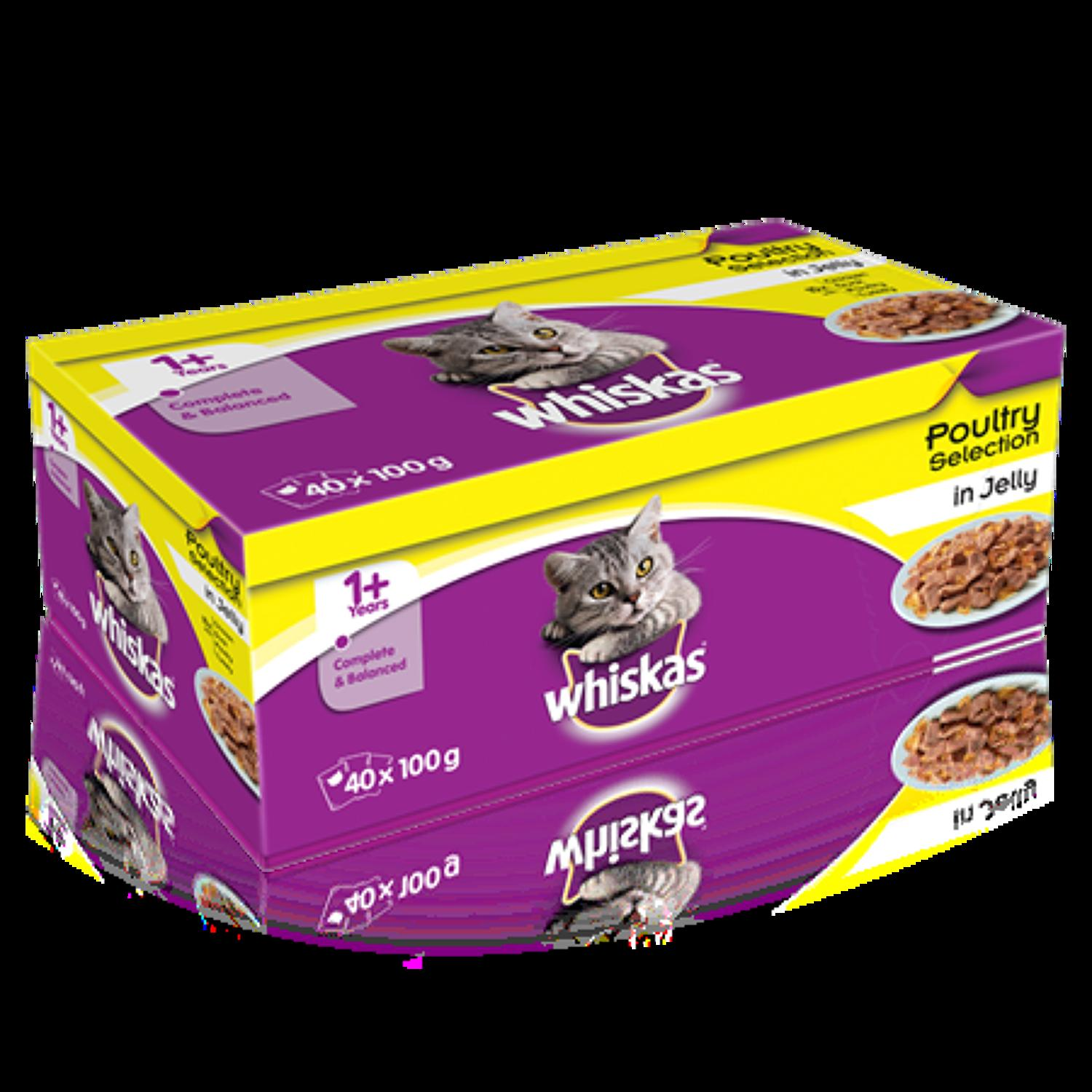 Whiskas 1+ Poultry in Jelly 40x100g