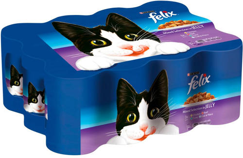 Felix Tins Mixed Selection in Jelly 12x400g