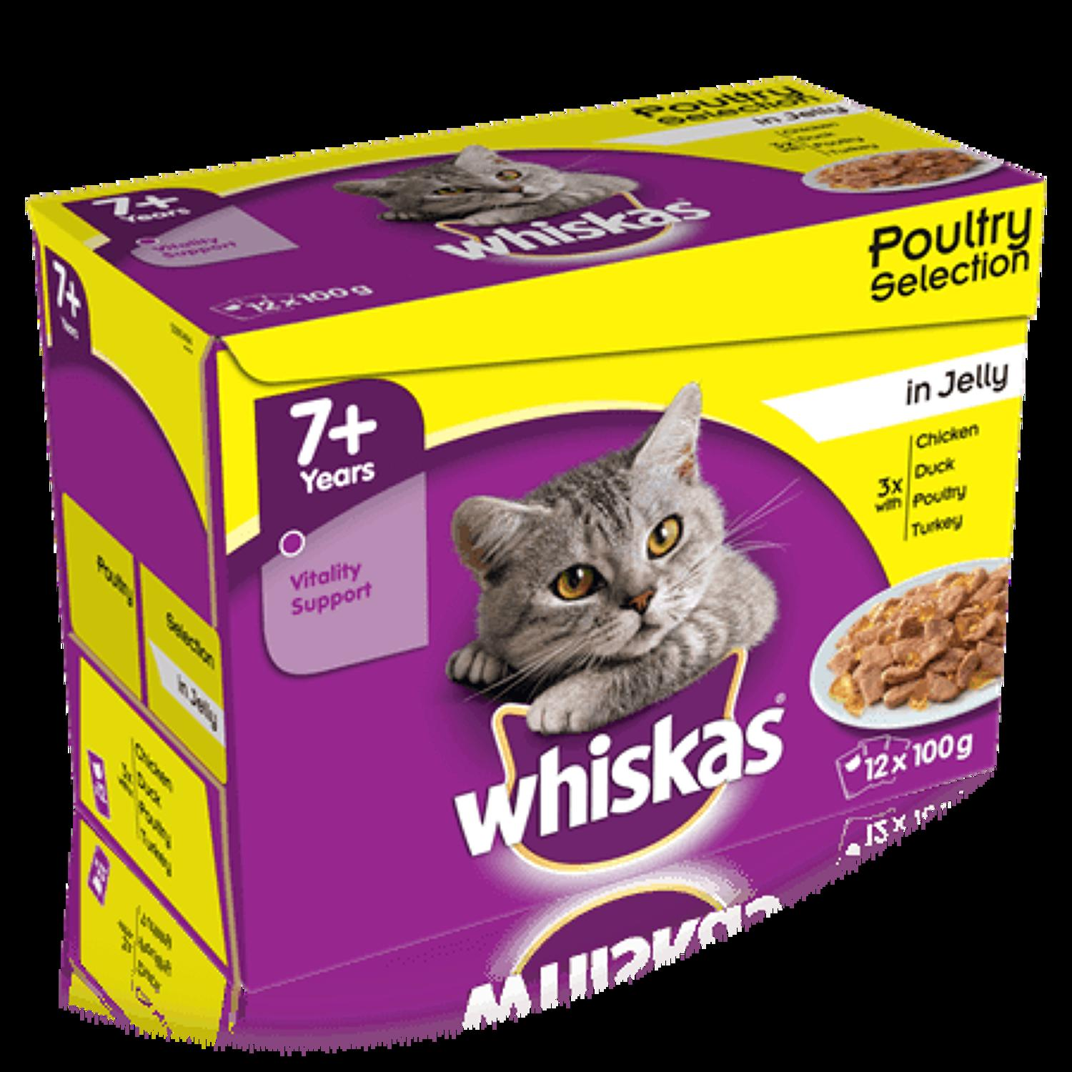 Whiskas 7+ Poultry In Jelly 12x100g