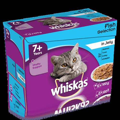 Whiskas 7+ Fish In Jelly 12x100g
