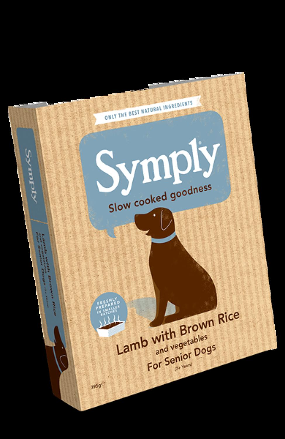 Symply Lamb & Rice For Senior Dogs 395g