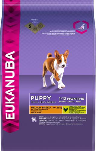 Eukanuba Dog Medium Breed Puppy Chicken 12kg