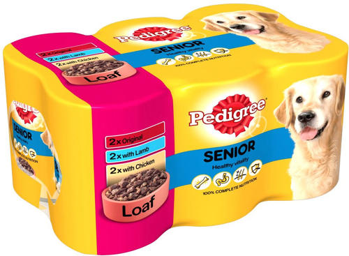 Pedigree Tins Senior in Loaf 6x400g