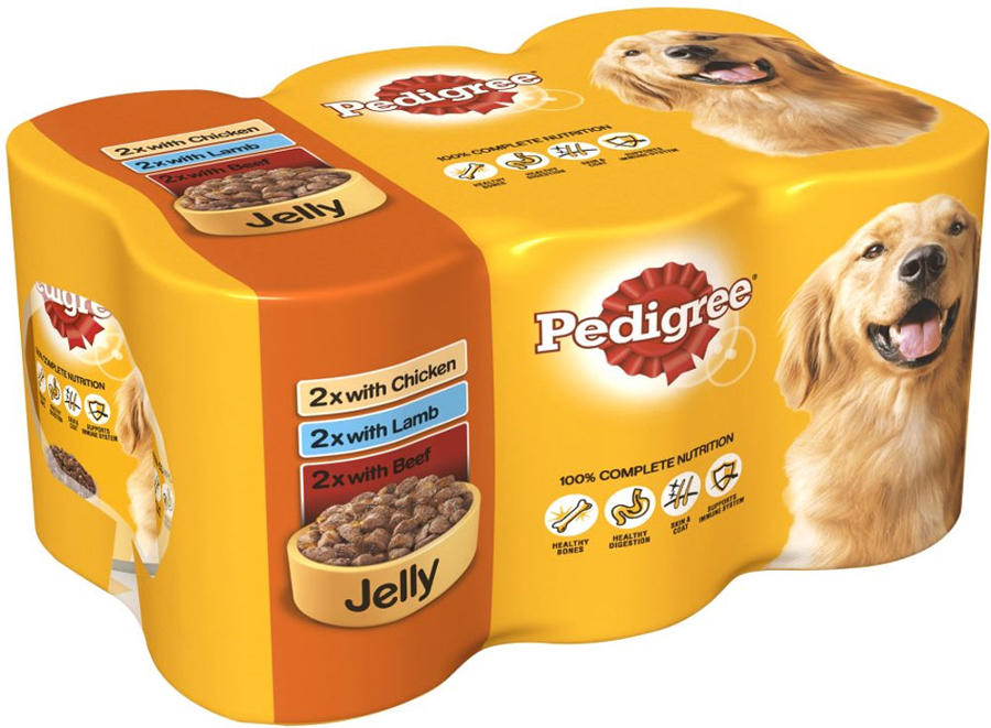 Pedigree Tins in Jelly 6x385g