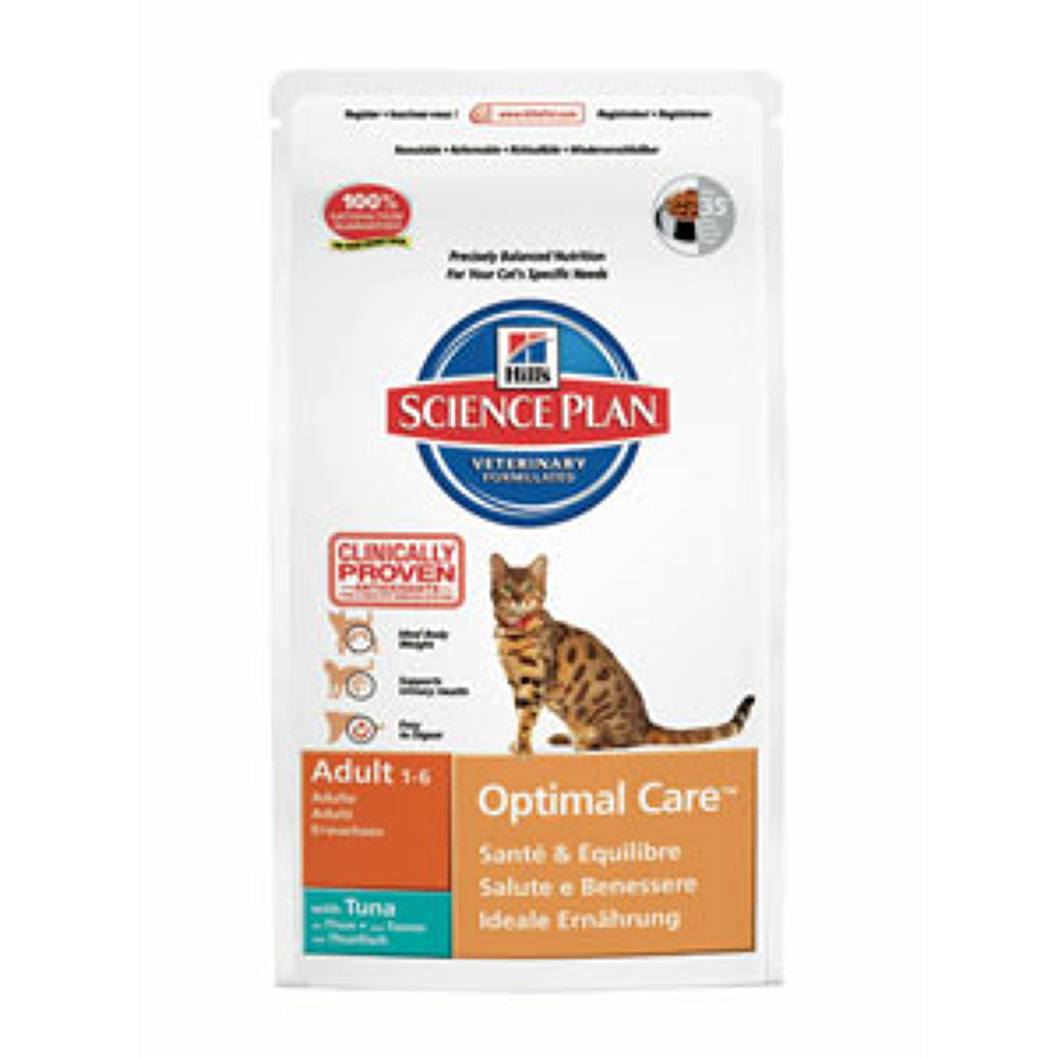 Hills SP Cat Optimal Care Adult Tuna 2kg