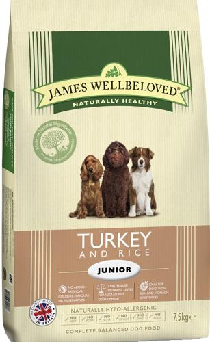 James Wellbeloved Junior Turkey & Rice 7.5kg
