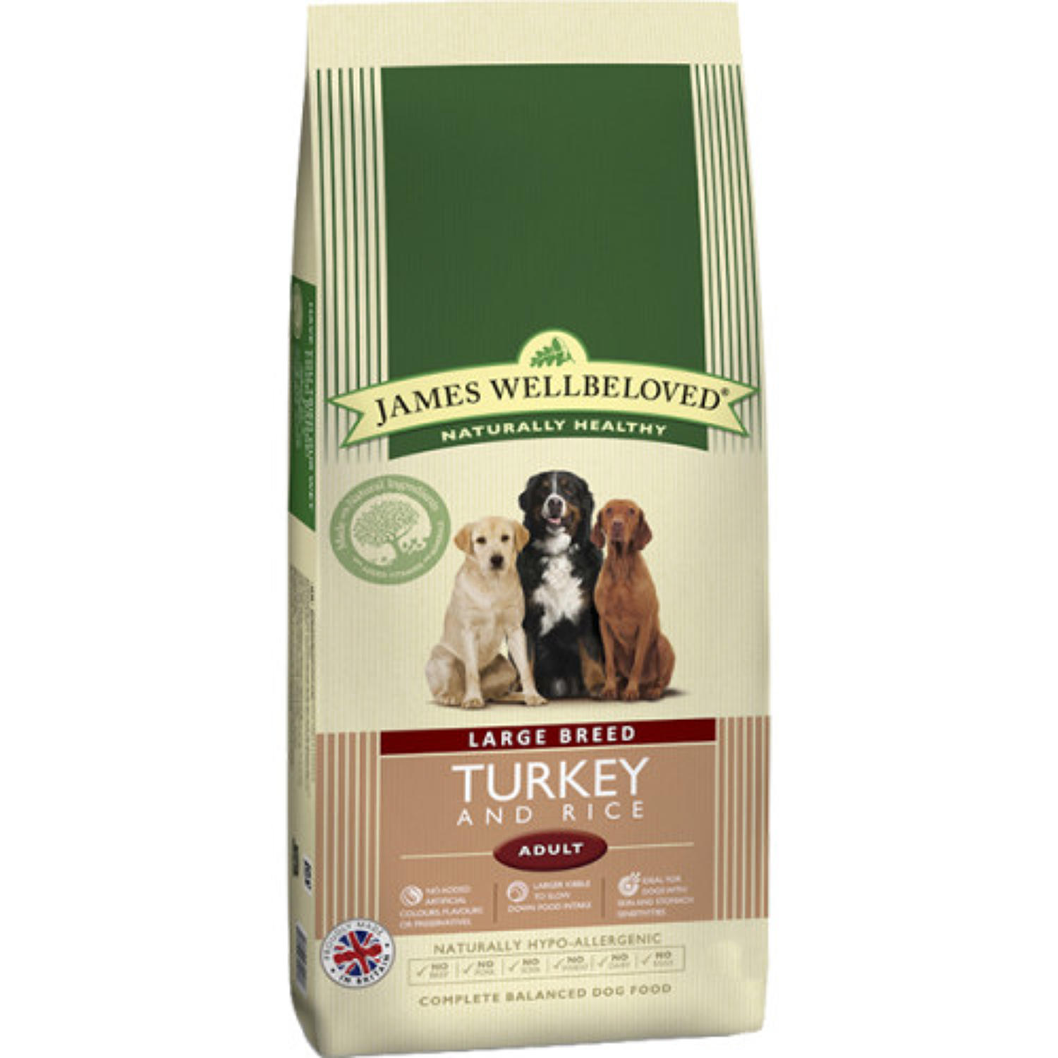 JamesWellbeloved Large Breed Adult Turkey 15k