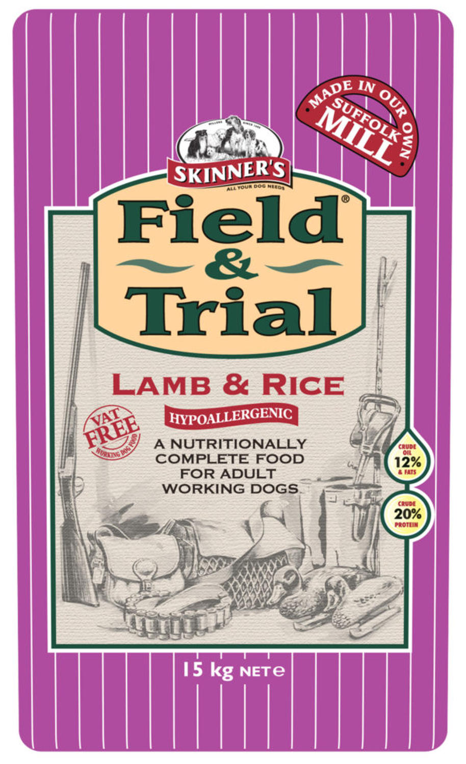 Skinners Field & Trial Lamb & Rice 15kg