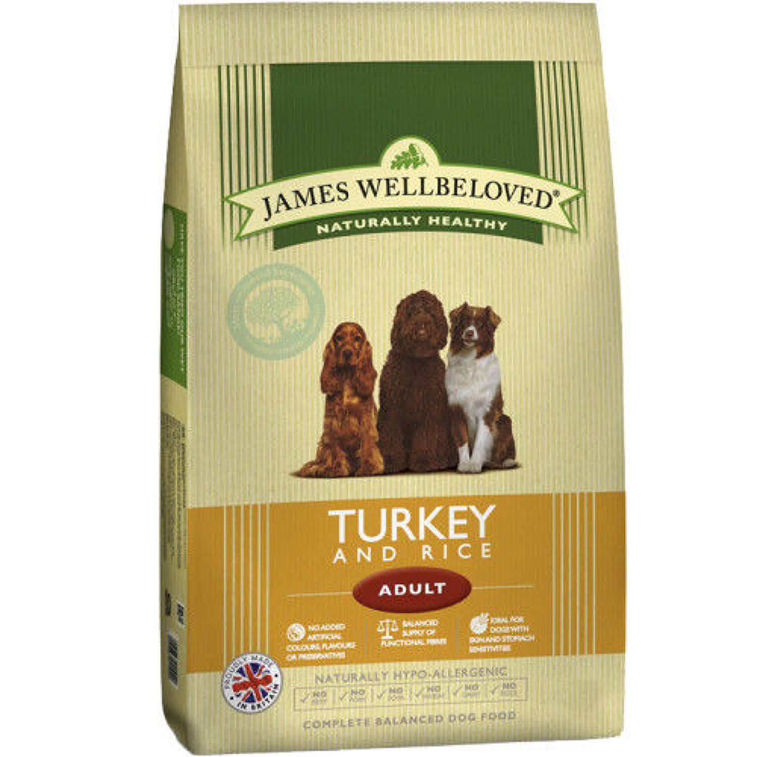 James Wellbeloved Adult Turkey & Rice 15kg